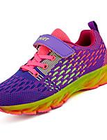 abordables -Fille Chaussures Polyuréthane Printemps Automne Confort Chaussures d'Athlétisme Marche pour Athlétique Orange Violet Noir/Rouge