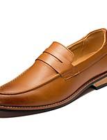 Недорогие -Муж. обувь Резина Весна Осень Удобная обувь Мокасины и Свитер для Черный Коричневый