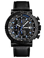 Недорогие -Муж. Наручные часы Модные часы Нарядные часы Японский Кварцевый Календарь Защита от влаги Хронометр Натуральная кожа Группа Роскошь На