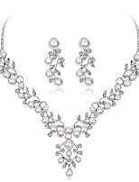 cheap -Women's Bridal Jewelry Sets Rhinestone Imitation Pearl Alloy Leaf Formal Fashion Sweet Wedding Party 1 Necklace Earrings Costume Jewelry