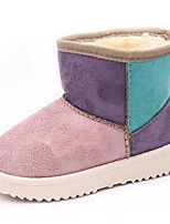 cheap -Girls' Shoes PU Spring Fall Comfort Snow Boots Boots Mid-Calf Boots for Casual Pink Brown Fuchsia