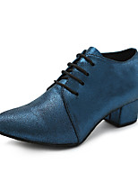 cheap -Men's Latin Leatherette Sneaker Training Trim Stiletto Heel Blue Customizable