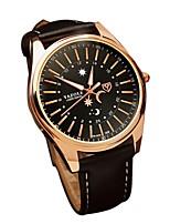 Недорогие -Муж. Модные часы Японский Кварцевый Повседневные часы Натуральная кожа Группа На каждый день Черный Коричневый