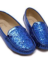 Недорогие -Мальчики Девочки обувь Блестки Весна Осень Удобная обувь Мокасины и Свитер для Повседневные Серебряный Синий