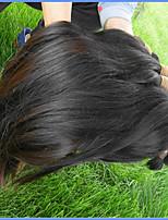 Недорогие -естественный необработанный бразильский девственный человеческий волос объемный прямой стиль от одного донора всего 4bundles 400g lot for