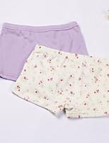 cheap -Girls' Solid Spring Underwear, Cotton White Purple