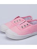 Недорогие -Девочки обувь Полотно Весна Осень Удобная обувь Кеды для Повседневные Белый Красный Синий Розовый