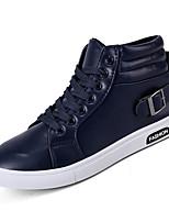 preiswerte -Herrn Schuhe Gummi Frühling Herbst Komfort Sneakers für Draussen Schwarz Braun Blau
