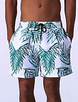 cheap -Men's Print Sexy Fashion Bottoms Swimwear,Polyester Nylon Red Green