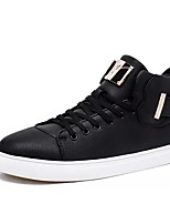 Недорогие -обувь Полиуретан Зима Осень Удобная обувь Кеды для Повседневные Белый Черный