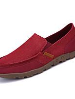 Недорогие -Муж. обувь Полиуретан Осень Удобная обувь Мокасины и Свитер для Повседневные Серый Красный Синий Хаки