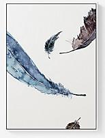 Недорогие -Абстракция Иллюстрации Предметы искусства,Полистирен материал с рамкой For Украшение дома Предметы искусства в рамках В помещении