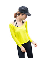 cheap -Women's Activewear Set Long Sleeves Quick Dry Super Slim Breathability Top for Cheerleader Costumes Running/Jogging Exercise & Fitness
