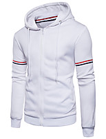 cheap -Men's Daily Sports Casual Chinoiserie Hoodie Color Block Hooded Micro-elastic Cotton Long Sleeve Spring/Fall