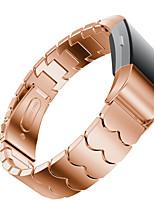 economico -Cinturino per orologio  per Fitbit Charge 2 Fitbit Custodia con cinturino a strappo Chiusura moderna Metallo Acciaio inossidabile
