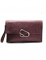 cheap -Women Bags PU Clutch Zipper for Casual All Season Brown Purple Gray Blushing Pink Black