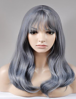 cheap -Synthetic Wig Natural Wave Capless Women's Gray Natural Wigs Long