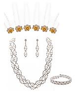preiswerte -Damen Neue Kollektion für Hochzeiten im Warmen Braut-Schmuck-Sets Strass Künstliche Perle Diamantimitate Aleación Modisch Europäisch