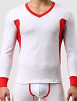 abordables -Hombre Microelástico Un Color Medio Camisetas Interiores,Algodón 1 Verde Trébol Blanco Gris Amarillo Gris Claro