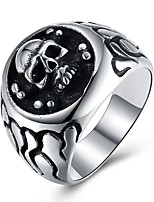 cheap -Men's Statement Rings , Rock Hip-Hop Oversized Stainless Steel Skull Jewelry Street Club
