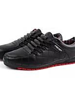 preiswerte -Schuhe PU Leinwand Frühling Herbst Komfort Sneakers für Normal Schwarz Braun Blau