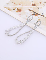 cheap -Women's Stud Earrings Rhinestone Basic Rhinestone Silver Plated Jewelry For Wedding Party