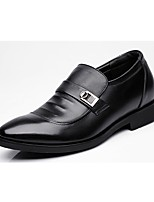 cheap -Men's Shoes Real Leather Spring Fall Formal Shoes Loafers & Slip-Ons for Casual Office & Career Black