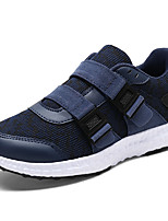 cheap -Boys' Shoes Tulle Leatherette Spring Fall Comfort Athletic Shoes Running Shoes Magic Tape Lace-up for Athletic Casual Red Dark Blue