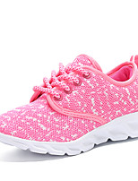 cheap -Girls' Shoes Customized Materials Tulle Spring Summer Comfort Light Soles Athletic Shoes Running Shoes Stitching Lace Lace-up for