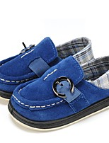 cheap -Boys' Shoes Fabric Leather Spring Fall Vulcanized Shoes Comfort Flats Buckle Gore for Casual Dark Blue Light Green