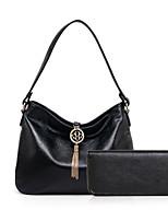 cheap -Women Bags PU Bag Set 2 Pieces Purse Set Tassel for Casual Outdoor Winter Fall Light Grey Red Black Blue