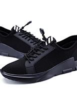 Недорогие -Муж. обувь Полиуретан Весна Осень Удобная обувь Кеды для Повседневные на открытом воздухе Черный Черно-белый