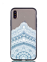 abordables -Coque Pour Apple iPhone X iPhone 8 Transparente Relief Motif Coque Arrière Mandala Dur Polycarbonate pour iPhone X iPhone 8 Plus iPhone 8