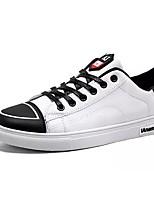 Недорогие -Муж. обувь Полиуретан Весна Осень Удобная обувь Кеды для Повседневные Черный Черно-белый Черный/Красный