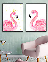 cheap -Animals Illustration Wall Art,PVC Material With Frame For Home Decoration Frame Art Living Room Indoors