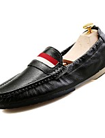 cheap -Shoes Leather Spring Fall Moccasin Loafers & Slip-Ons for Casual White Black Blue