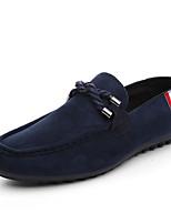 Недорогие -Муж. обувь Полиуретан Нубук Весна Осень Мокасины Удобная обувь Мокасины и Свитер для Повседневные Черный Красный Синий