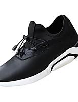 preiswerte -Schuhe Künstliche Mikrofaser Polyurethan Frühling Herbst Komfort Sneakers für Normal Weiß Schwarz Grau