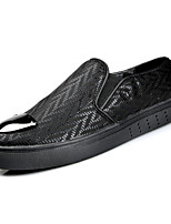 cheap -Men's Shoes PU Fall Comfort Loafers & Slip-Ons for Casual Black Silver