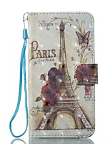 cheap -Case For Apple iPhone X / iPhone 8 Wallet / Card Holder / with Stand Full Body Cases Eiffel Tower Hard PU Leather for iPhone X / iPhone 8 Plus / iPhone 8