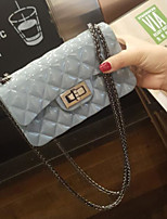 cheap -Women Bags PVC Shoulder Bag Buttons for Casual All Season Gray Red Black Green