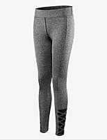 preiswerte -Damen Vintage Stil Undurchsichtig Baumwolle Solide Einfarbig Legging,Schwarz Grau