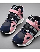 abordables -Fille Chaussures Cuir Nubuck Hiver Automne Confort Basket pour Décontracté Gris Rose