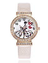 cheap -Women's Dress Watch Wrist watch Simulated Diamond Watch Chinese Quartz Casual Watch PU Band Casual Black White Blue Red Brown Gold Pink