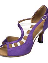 "cheap -Women's Latin Leatherette Sneaker Training Trim Stiletto Heel Black/Red Almond Purple Black 2"" - 2 3/4"" Customizable"