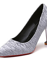 cheap -Women's Shoes Rubber Spring Fall Comfort Heels Low Heel Pointed Toe for Outdoor Pink Gray Black
