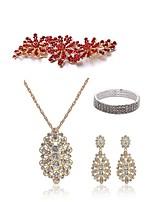 economico -Per donna Fermagli I monili nuziali Strass Europeo Di tendenza Matrimonio Feste Perle finte Diamanti d'imitazione Lega Gioielli per corpo