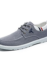 cheap -Men's Shoes Canvas Spring Summer Comfort Sneakers for Casual Blue Gray Black