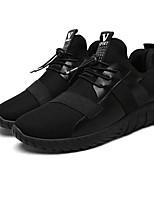 Недорогие -Муж. обувь Дерматин Весна Осень Удобная обувь Кеды для на открытом воздухе Черный Черно-белый