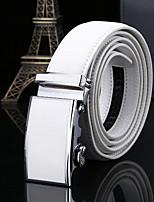 cheap -Genuine Leather Waist Belt,White Casual